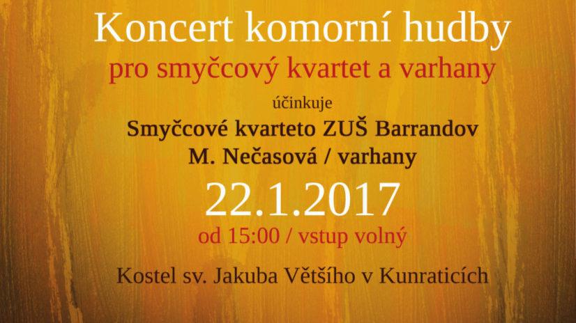 Koncert komorní hudby 22.1.2017